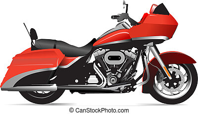 Sketch of modern motorcycle Vector illustration