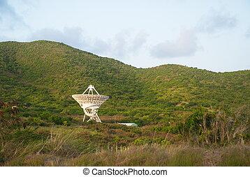 Radio Telescope on St Croix, USVI - Telescope on St Croix,...