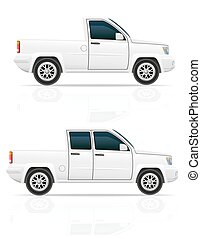 car pick-up vector illustration isolated on white background