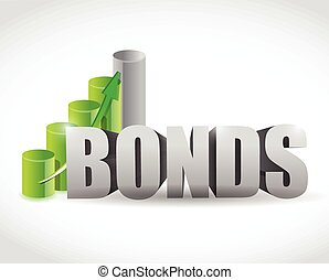 bonds sign business graph illustration design over a white...