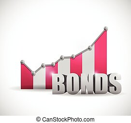 bonds business graph illustration design over a white...