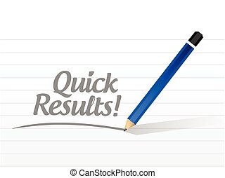 quick results message illustration design over a white...