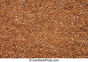 Flax seed close up
