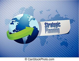 strategic planning globe sign