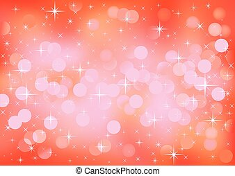 Red festive lights, vector background - Vector background...