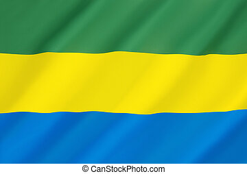 Flag of Gabon - Adopted in 1960 to replace the previous...