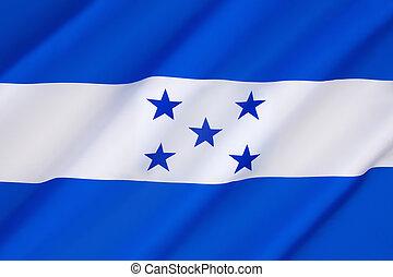 bandera, de, honduras,