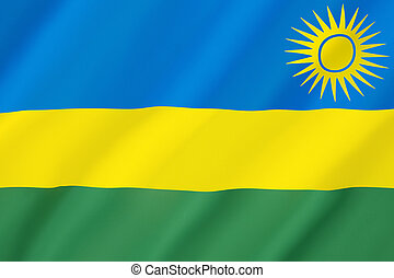Flag of Rwanda - Adopted on 25th October 2001 The flag...
