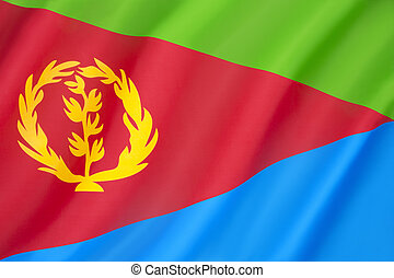 Flag of Eritrea - adopted on 5th December 1995.