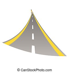 road with paint brush color vector