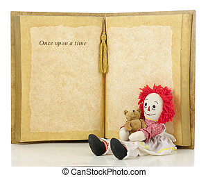 Once Upon a Time Rag Doll - A cheerful rag doll holding her...