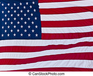 American Flag - Vibrant American flag blowing in the wind