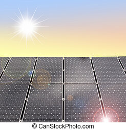 solar panels - illustration of solar panels