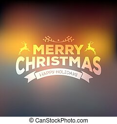 Christmas calligraphy on blured background - Vector...