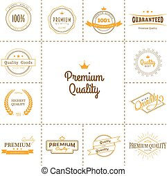 Premium quality labels set - Vector illustration of Premium...