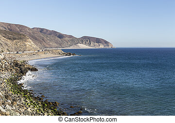 Malibu Pacific Coast Highway near Point Mugu - PCH north of...