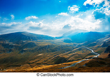 Transalpina, the highest altitude road in Romania, crossing...