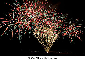 Fireworks display in Bloemfontein in South Africa