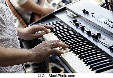 eléctrico, piano