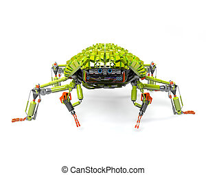 Web spider - Green robot with a shell on its back