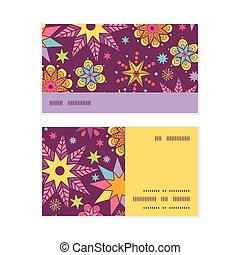 Vector colorful stars horizontal stripe frame pattern...
