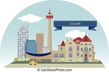 Calgary, Canada - Calgary City in the province of Alberta,...