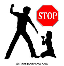 Stop Child Abuse - The father must stop domestic violence...