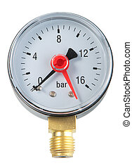 Manometer Close-up Isolated on white background