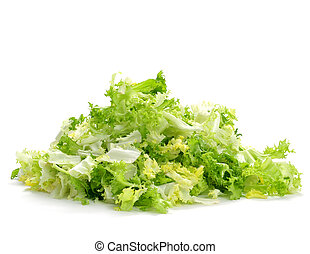 chopped escarole endive - a pile of chopped escarole endive...
