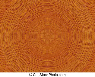 Wood rings - Close-up of wood showing annual rings - wooden...