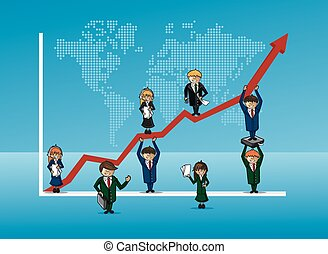 Finance bussines team growth concept graph - Finance...