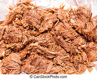 Barbacoa meat mexico style boiled cow meat - Barbacoa de res...