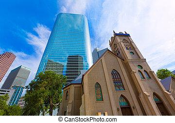 Houston, 我們,  antioch, 教堂, 都市風景, 得克薩斯