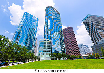 都市風景,  Houston, 地平線, 得克薩斯, 我們