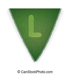 Bunting flag letter L - eps 10 vector illustration