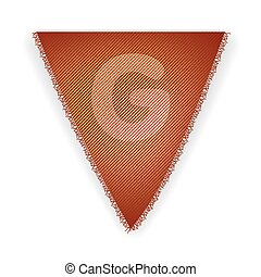 Bunting flag letter G - eps 10 vector illustration