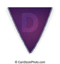 Bunting flag letter D - eps 10 vector illustration