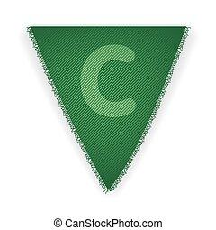Bunting flag letter C - eps 10 vector illustration
