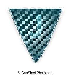 Bunting flag letter J - eps 10 vector illustration