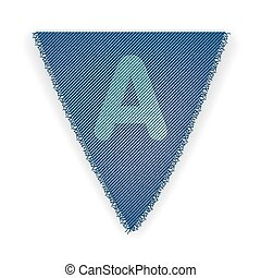 Bunting flag letter A - eps 10 vector illustration