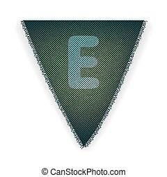 Bunting flag letter E - eps 10 vector illustration