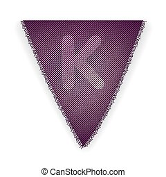 Bunting flag letter K - eps 10 vector illustration