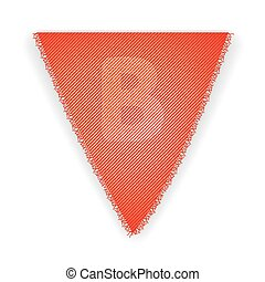 Bunting flag letter B - eps 10 vector illustration