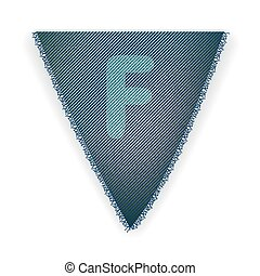 Bunting flag letter F - eps 10 vector illustration