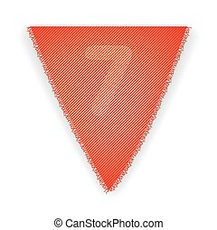 Bunting flag number 7 - eps 10 vector illustration