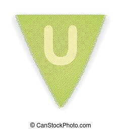 Bunting flag letter U - eps 10 vector illustration