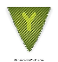Bunting flag letter Y - eps 10 vector illustration
