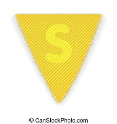 Bunting flag letter S - eps 10 vector illustration