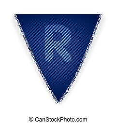 Bunting flag letter R - eps 10 vector illustration