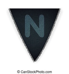 Bunting flag letter N - eps 10 vector illustration